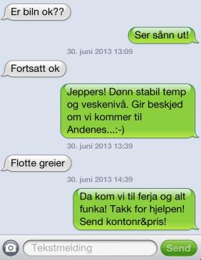 SMS til Hans House
